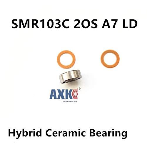 Ochoos Bearing KIT Stainless Steel Hybrid Ceramic Bearings for Quantum Spool SMR103 2OS