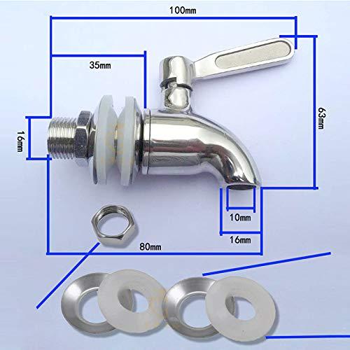 Klinkamz en acier inoxydable Distributeur de boisson de remplacement robinet robinet Spigot pour corps fermenter Vin Bi/ère