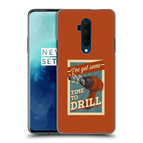 Official Lantern Press Time to Drill Man Cave Hard Back Case Compatible for OnePlus 7T Pro