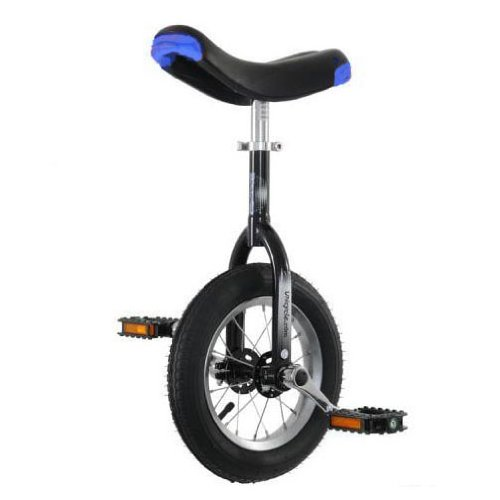 "Hoppley 12"" Unicycle - Perfect Starter Uni - Black"