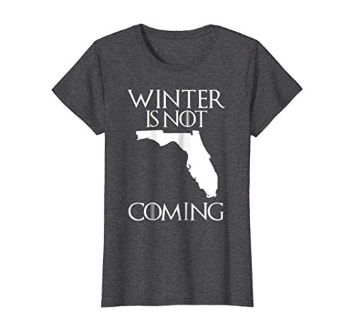 Womens Funny Florida T-Shirt winter is not coming Small Dark Heather