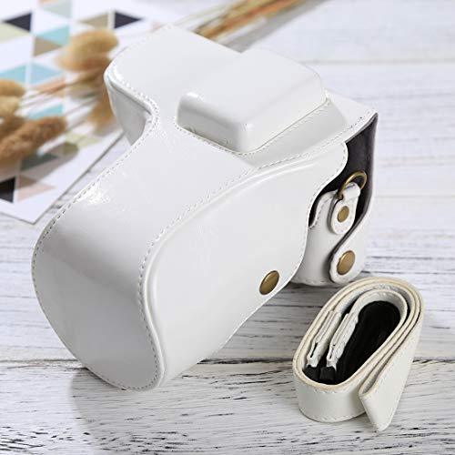 Wyan Full Body Camera PU Leather Case Bag with Strap for Samsung NX300(Black) (Color : White) (Best Price Samsung Nx300)