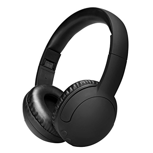 AUSDOM AH850s Wireless Headphones, Bluetooth 4.0 Hi-Fi Stereo Headset with Built in Mic, On Ear, Foldable, Lightweight ,for PC/ Cell Phones/ TV —Black