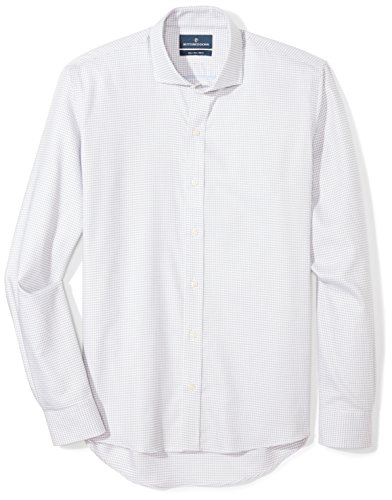Buttoned Down Mens Slim Fit Cutaway Collar Pattern Non Iron Dress
