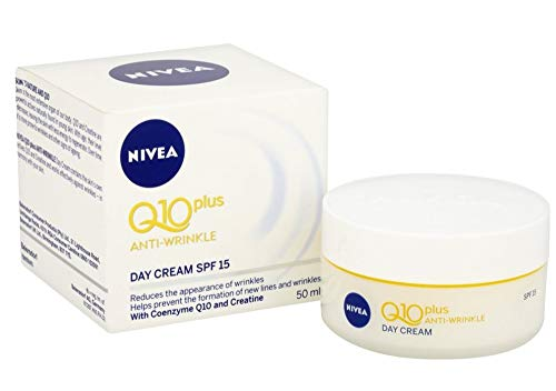 NIVEA Q10 Plus Anti-Wrinkle with SPF 15 Day Care Cream 50 ml (1.69 oz) - Pack of 2