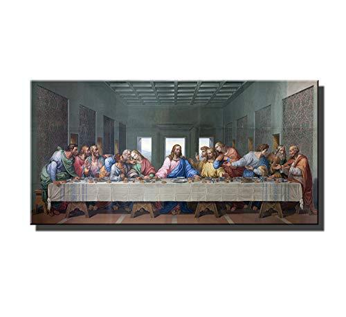 zjhart HD Printed Oil Paintings Home Wall Decor Art on Canvas Alec Monopoly The Last Supper Leonardo Da Vinci 1size#077 (Unframed,20x40inch) (The Last Supper Leonardo Da Vinci Original)