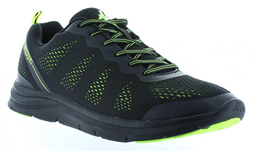 Scarpe sport per Uomo e Donna KAPPA 303N9K0 CAMMER 928 BLACK-LIME GREEN