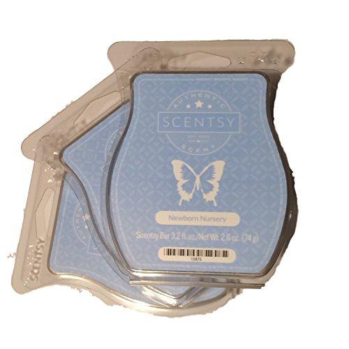 Scentsy, Newborn Nursery, Wickless Candle Tart Warmer Wax 3.2 Oz Bar, 3-pack (3)
