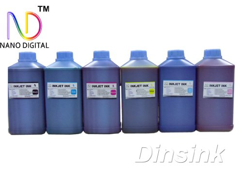 6 x 1 Liter (6x34oz) Bottles of Premium Grade Nano Dye Ink for Epson Printers Stylus Photo RX500/RX600/RX620/R200/R220/R300/R300M/R320/R340/R580/RX595/RX680/R260/R280/R380/1400 and Artisan 50/700/710/800/810 ...