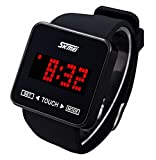 Boys Watches, Cool Digital Touch Screen Watch Black
