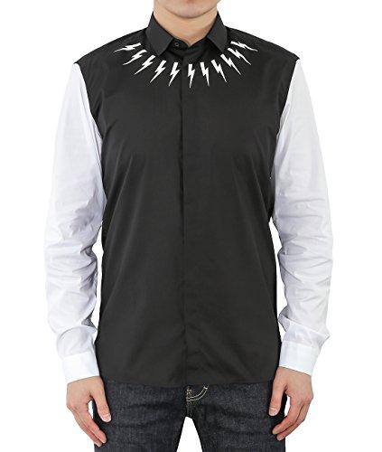 wiberlux-neil-barrett-mens-thunder-print-contrast-sleeve-shirt-41-black