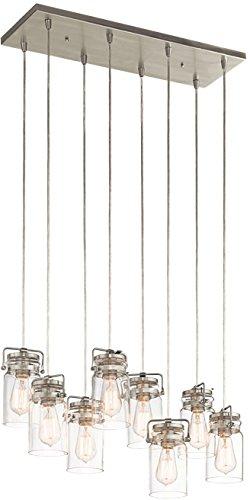 Kichler 42890NI Brinley Linear Chandelier 8-Light, Brushed ()