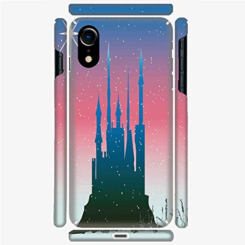 Phone Case Compatible with 3D Printed iPhone X/XS DIY Fashion Picture,Fairytale Castle with Stars on Sky Princess Design,Personalized Designed Hard Plastic Cell Phone Back Cover Shell Protective (Castles Pictures Tale Fairy)