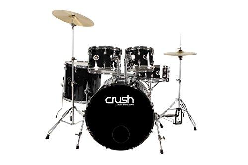Crush Drums & Percussion AL528-900 5-Piece Drum, Set Black Wrap