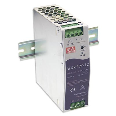 Best price Mean Well WDR-120- Industrial DIN RAIL Power Supply, Single Output 24VDC, , 120W