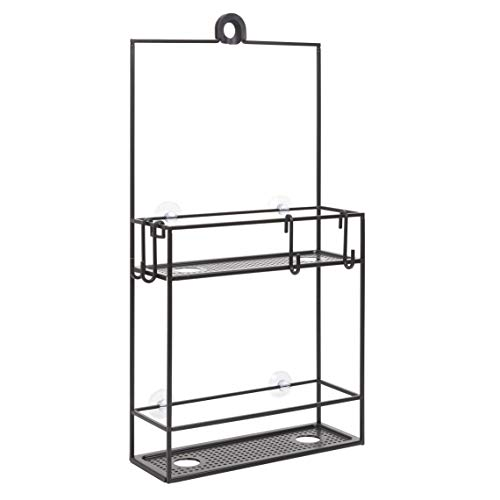 (Umbra Cubiko Shower Caddy, Black Metal Shower Caddy Over the Shower Head)