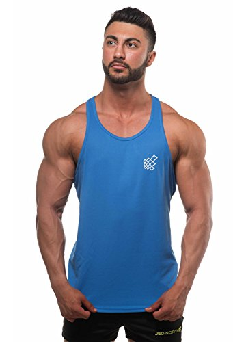 Jed North Mens DRI-FIT Microfiber Bodybuilding Stringer Tank Top Weight-Training Y-Back Racerback