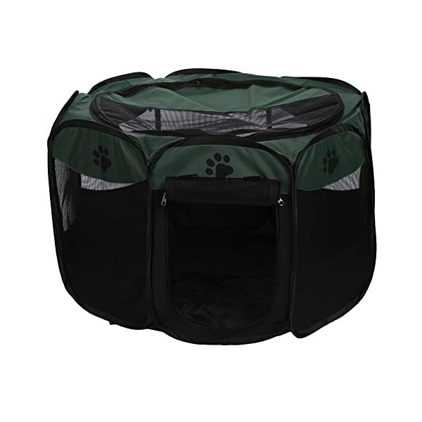 Childplaymate Folding Portable Pet Tent Playpen Exercise Play Dog Fence Puppy Kennel Green Click on image for further info.