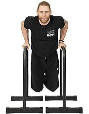 Gravity Fitness Paralletty uniseks - pręty dip - XL - nowe uchwyty 38 mm do kalisteniki, crossfitu, użytku domowego i komercyjnego, czarne, jeden rozmiar