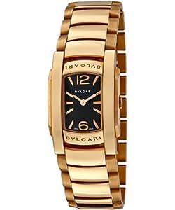 Bulgari Assioma D negro Dial de la mujer 18 K sólido oro rosa: Amazon.es: Relojes