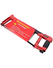 """MAXPOWER 12"""" Low-Profile Hacksaw- Industrial Grade Lightweight Alloy Body with High Tension Blade"""