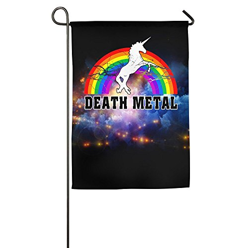 Death Metal Unicorn Rainbow Garden Flag 12 X 18-Inch