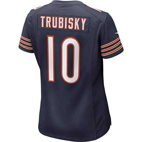 - Intuit Fast Women Mitchell_Trubisky_10_Navy_100th Fans Replica Jersey Sportswear Custom Football Game Limited Elite Legend Jerseys