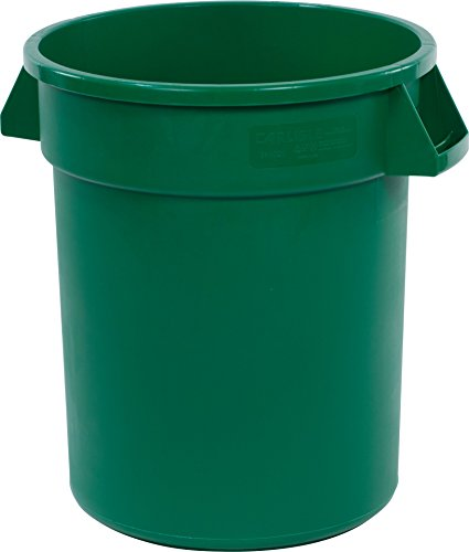 Carlisle 34102009 Bronco Round Waste Container Only, 20 Gallon, Green