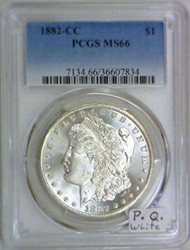 1882 CC Morgan Dollar MS-66 PCGS