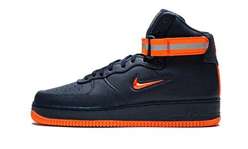NIKE AIR Force 1 HIGH Retro PRM QS Mens Fashion-Sneakers AO1635-400_8 - Obsidian/Brilliant Ornge ()