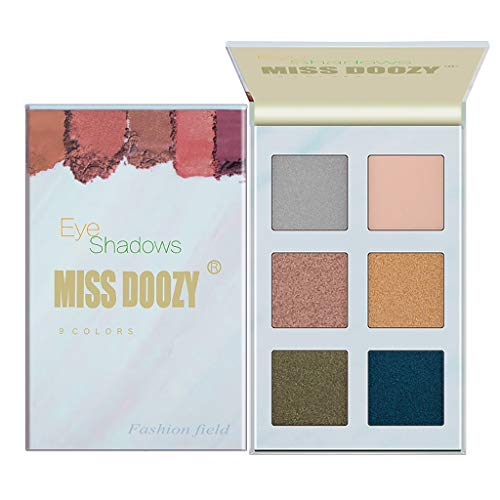 Beautiful Makeup 6 Color Eye Shadow Plette Bead Light Matte Makeup Dish Eyeshadow (G) ()
