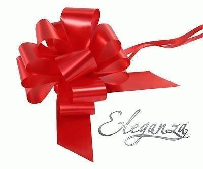 Finitions soign/ées de ranger 5 grands n/œuds /à tirer Rouge 50 mm-cadeaux Saint Valentin Venue Decorations Fleurs