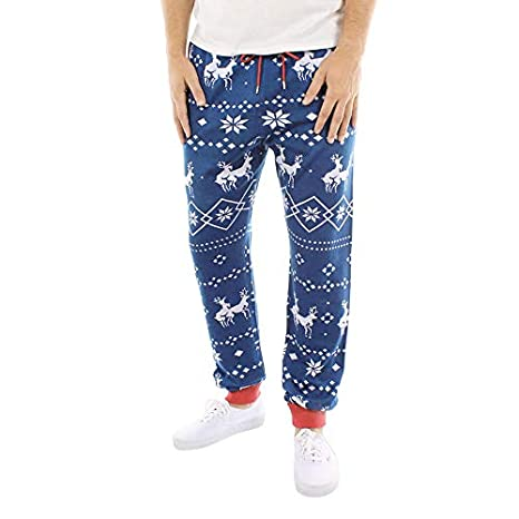 Amazon.com: Christmas Pants,Mens KpopBaby Xmas Print Drawstring Casual Sports Gym Running Yoga Athletic Pants: Clothing