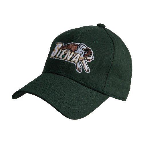 CollegeFanGear Siena Dark Green Heavyweight Twill Pro Style Hat 'Official Logo'