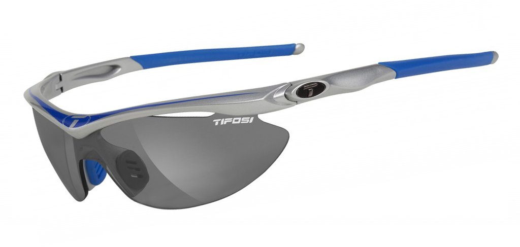 Tifosi Optics Slip Sunglasses Race Blue/Smoke/Ec/AC Red, One Size - Men's by Tifosi