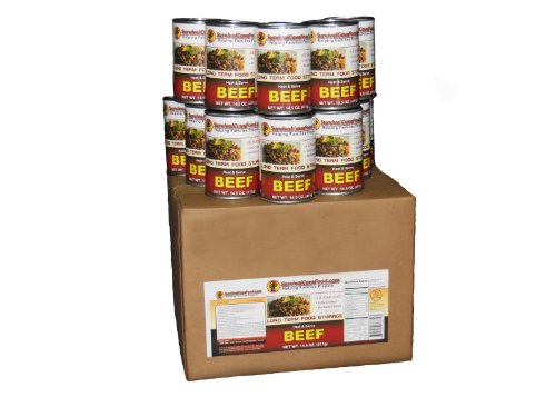 12 - 14.5oz Cans of Canned Meat (BEEF) Long Term Food Storage -Survival Cave by Survivalcavefood