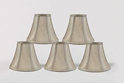 Urbanest 1100848b 6-inch Chandelier Lamp Shade, Champagne Set of 5