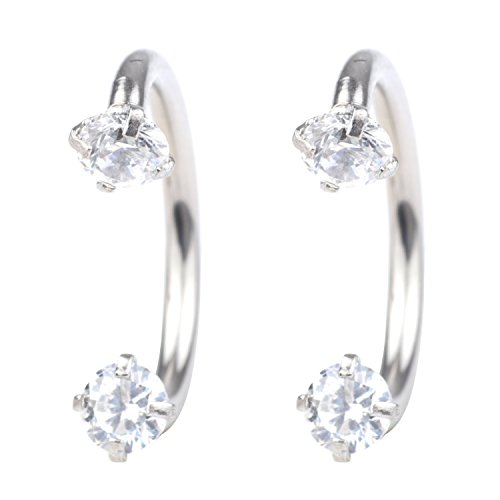 Diamond Labret Jewelry - Dress-up yourself DU 16G 8mm Horseshoe Lip ring 3mm Cubic Zirconia Inlaid nose ring piercing labret studs nose jewelry