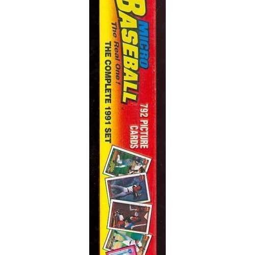 1991 Topps Baseball Micro Card Complete set FACTORY SEALED Box Chipper -