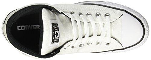 Converse Heren Chuck Taylor All-stars Street Hi - Tuimelde Lederen Sneaker Wit / Zwart / Wit