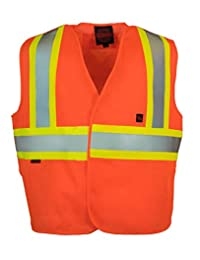 Fire Resistant (FR) 5-Point Tear-away Hi Vis Safety Vest