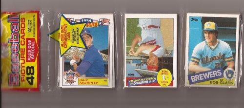 1985 Topps Baseball Rack Pack Factory sealed unopen 48 cards per pack !! Box 19