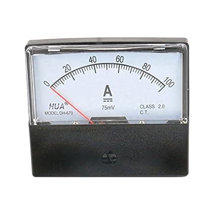1pcs 670 30A Analog Amp Panel Meter Current Ammeter DC 0-30A Shunt