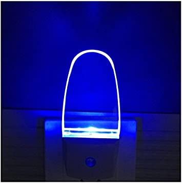Plug In Light Sensor Led Blue Night Light For Bathroom Kitchen Hallway 2 Pack 0 5w Amazon Com