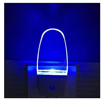 Plug In Light Sensor LED Blue Night Light For Bathroom Kitchen - Blue lights in bathroom