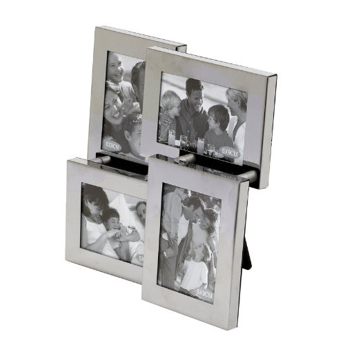Landon Tyler 2.5 x 3.5-inch 4-Piece Multi Frame with Shiny Metal ...