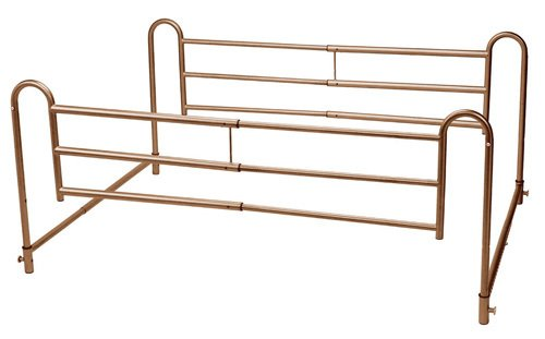 Drive Medical (a) Full Length Home Bed Rails Pr. Brown Vein Finish by Zenith Medical Supplies