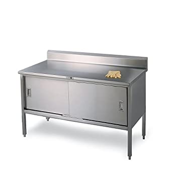 Amazoncom John Boos Gauge Stainless Steel Enclosed Base - Enclosed stainless steel work table