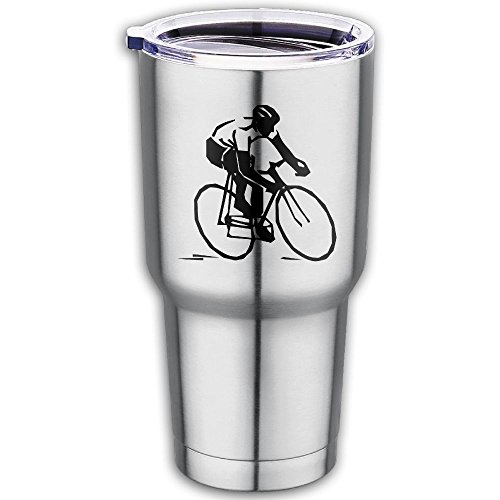 Clipart Cycle Race Premium 100% Food Grade 304 Stainless Steel Car Cup - Auto Travel Mug Works Great For Ice Drink, Hot Beverage