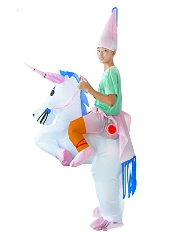 Funny Adult Inflatable Costume Suit Ride Me Inflatable Animal Fancy Dress Jumpsuit,Inflatable Unicorn (Ride A Unicorn Costume)